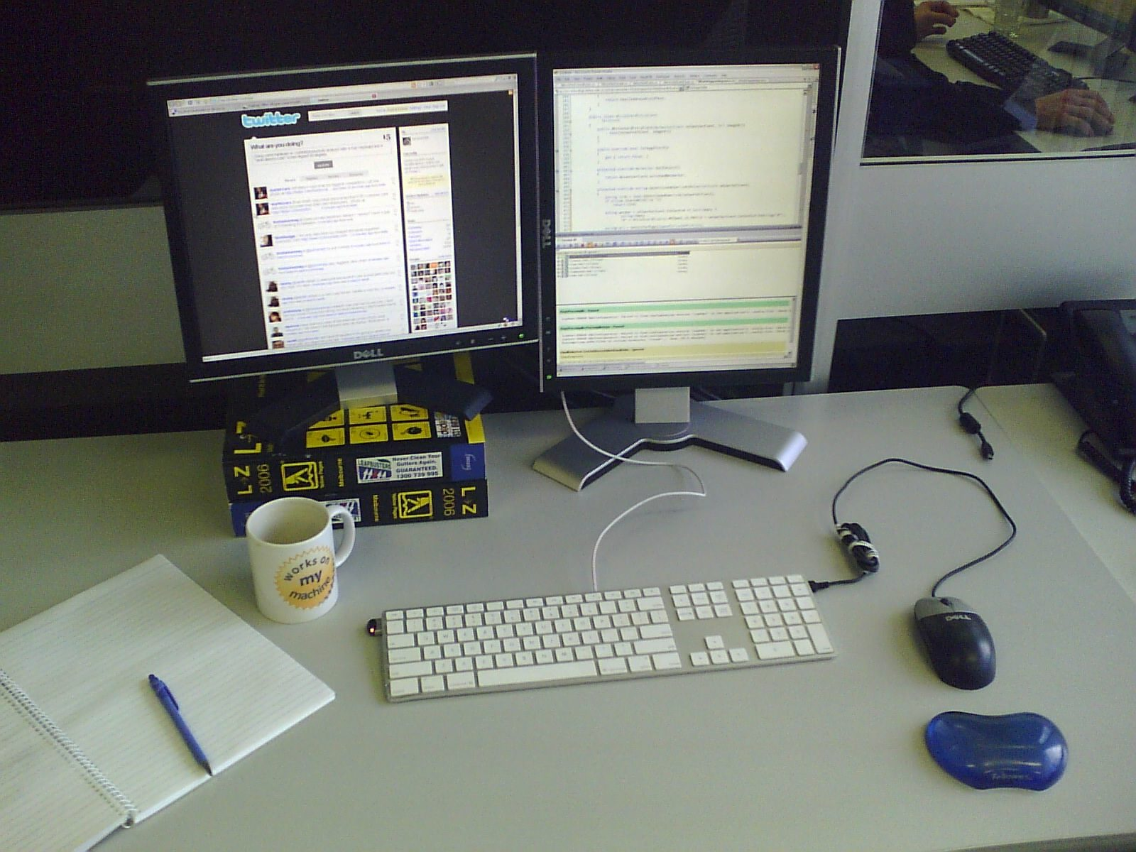 Desk Display of two computers