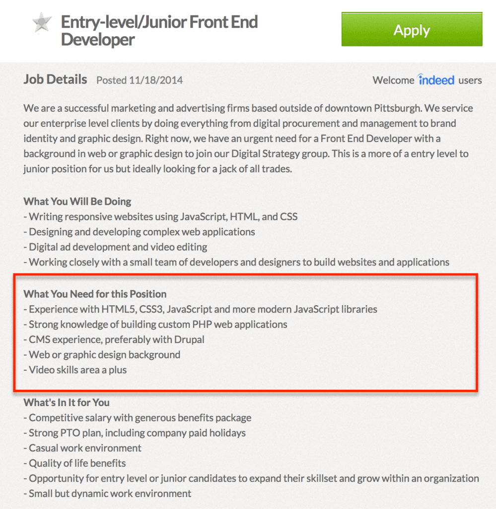 do you have what it takes to be a front end developer pittsburgh junior front end dev job