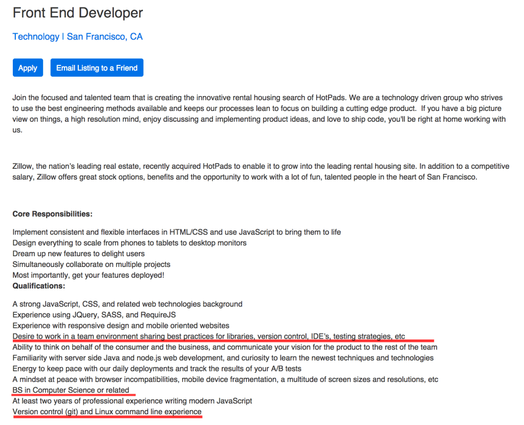 do you have what it takes to be a front end developer zillow front end listin sf
