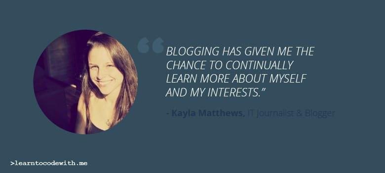 Blogger Kayla Matthews Talks About Starting a Blog