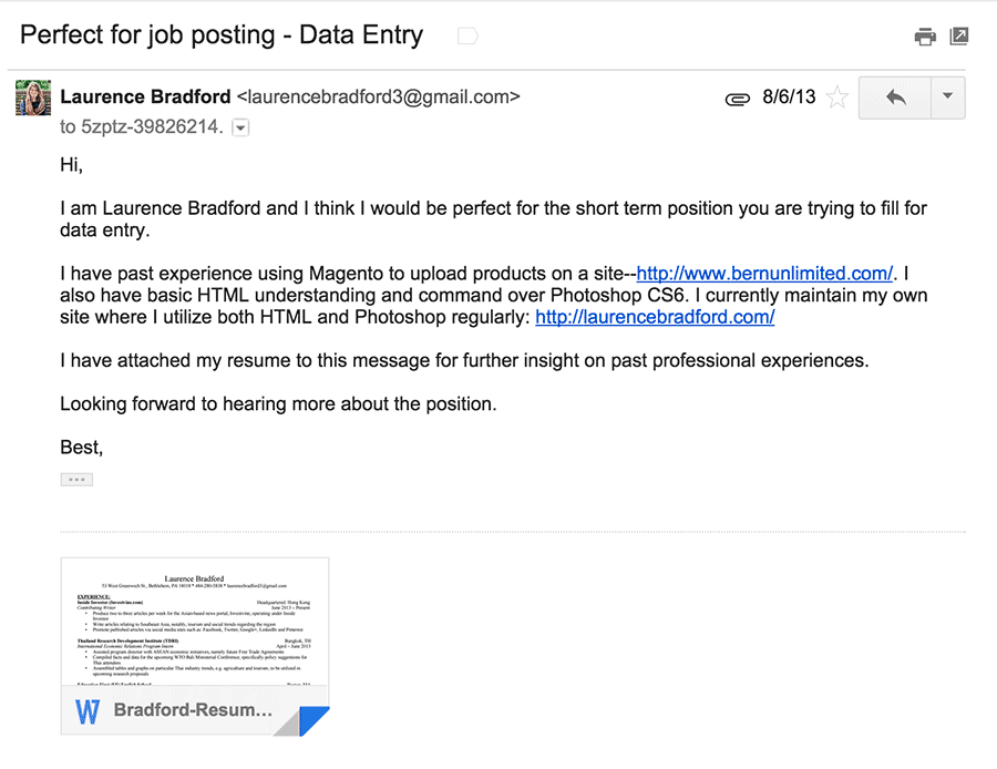 how to kill at finding jobs on craigslist email i sent when applying for first tech job