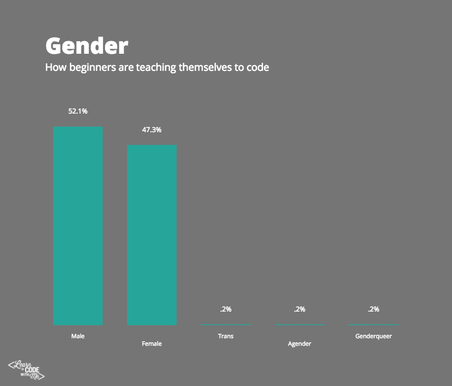 How beginners are teaching themselves to code (gender)
