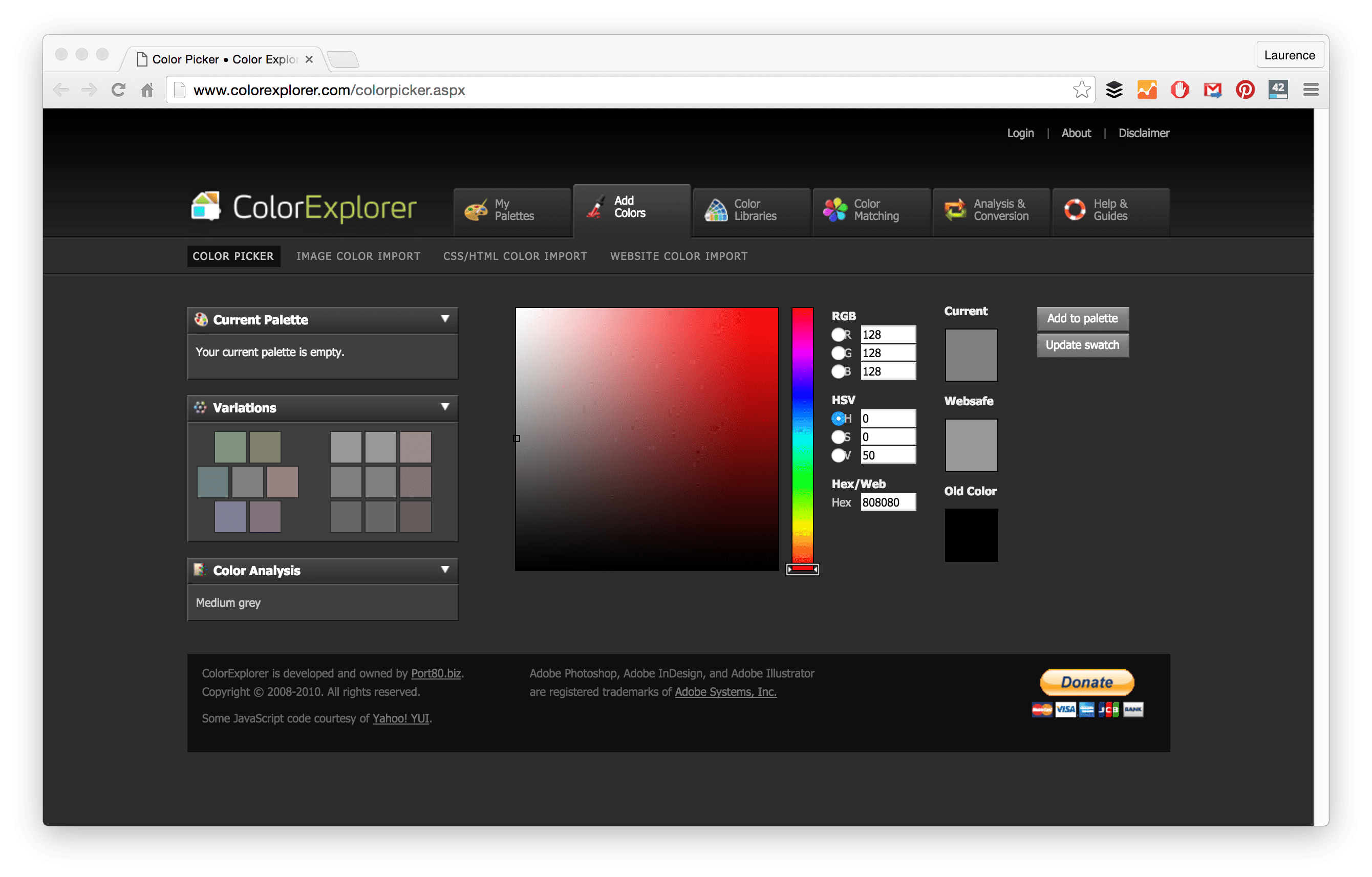 Color adobe online - With Colorexplorer There Are Four Ways To Generate Color Schemes These Include Color Picker Image Color Import Css Html Color Import And Website Color