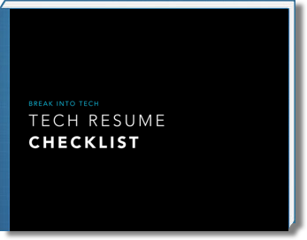 Tech Resume Checklist  Tech Resume