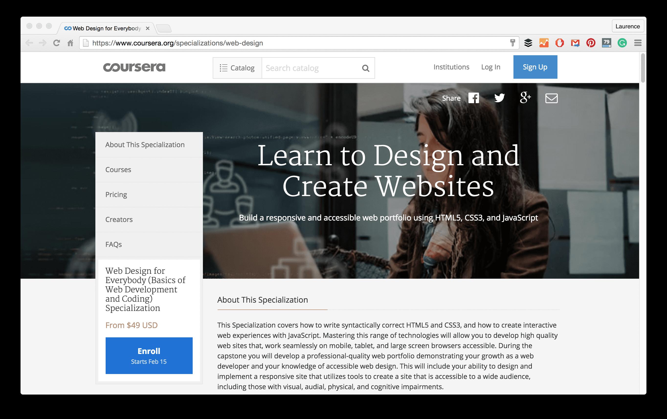 web design specialization