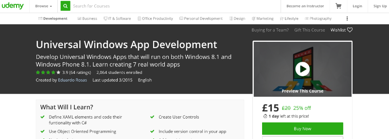 Universal Windows App Development