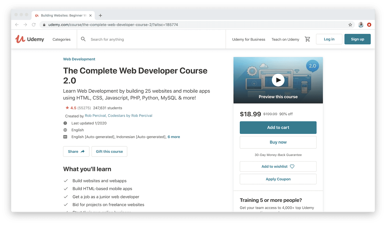 20 Best Web Development Courses on Udemy 20 List   Learn to ...