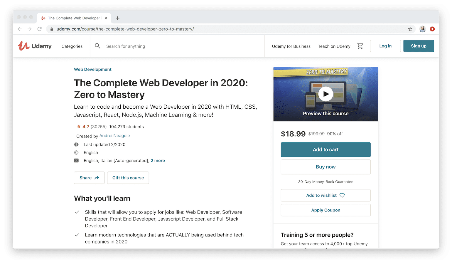 The 30 Best Udemy Courses For Web Development 2020 Guide