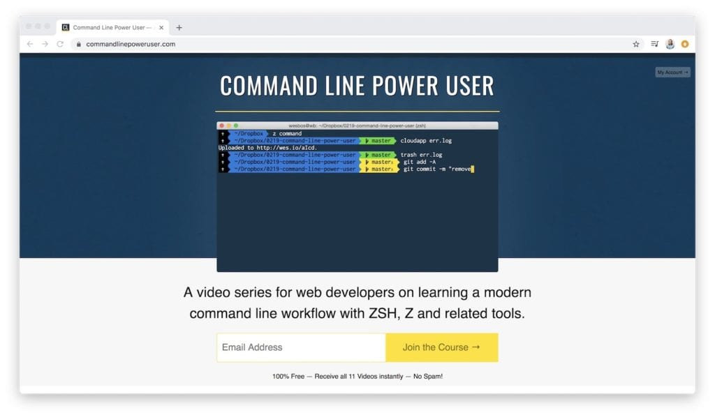 command line power user coding videos