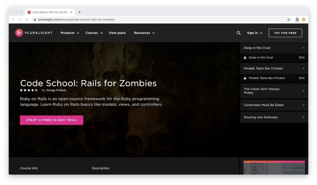learn at rails for zombies