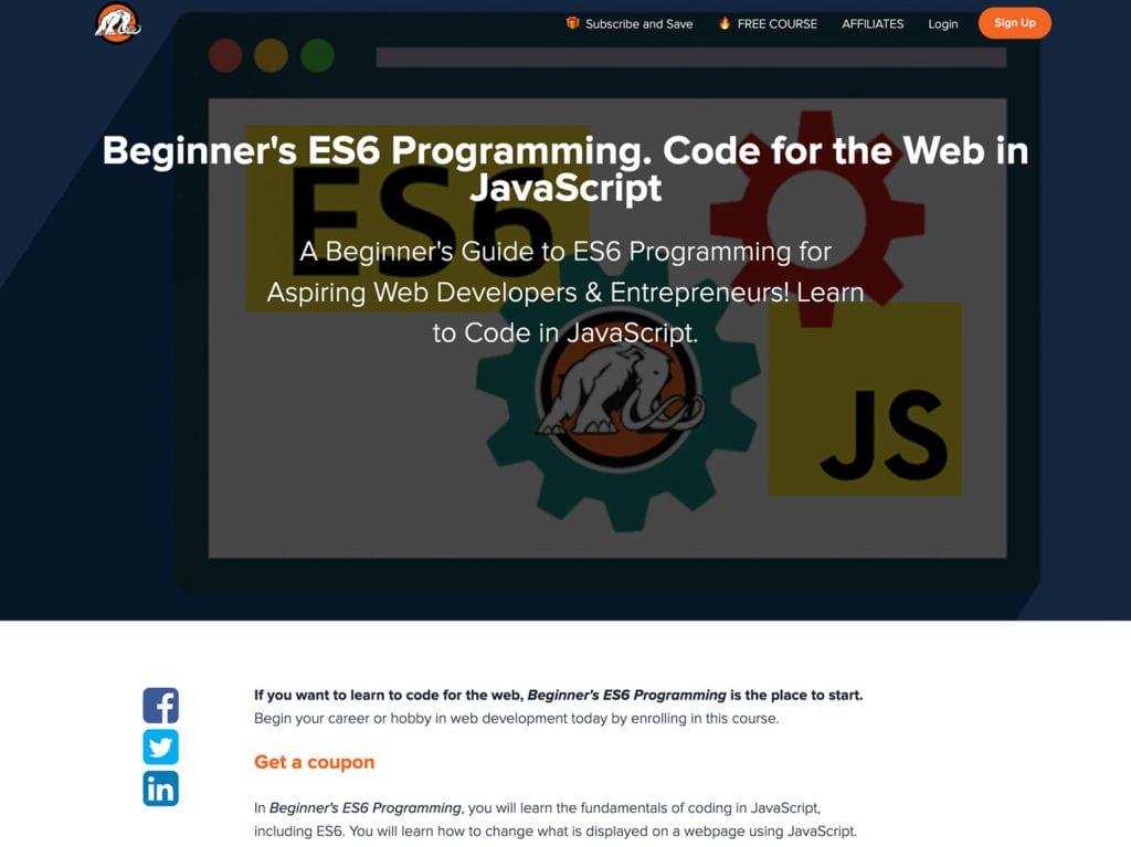 beginners es6 programming
