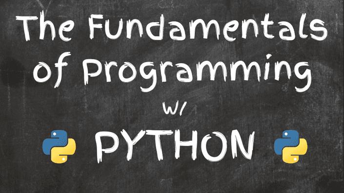 fundamentals of programming with python