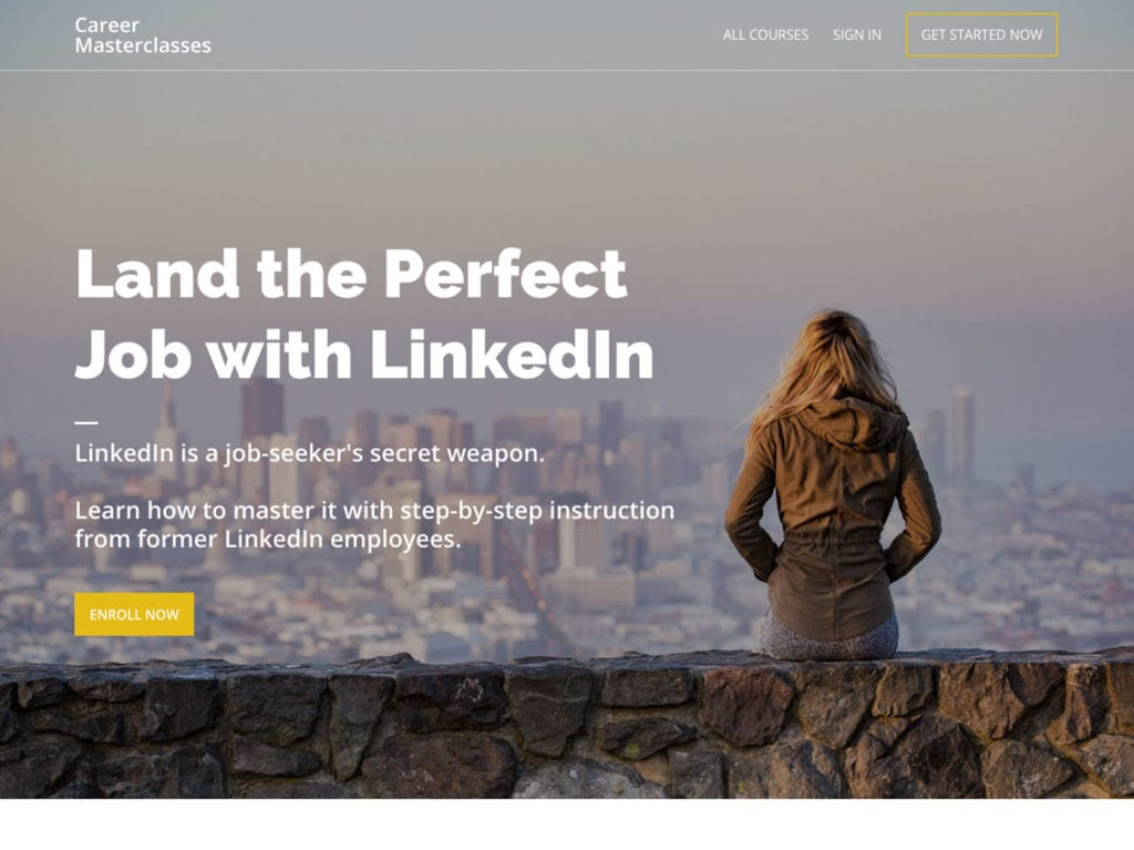land the perfect job with linkedin