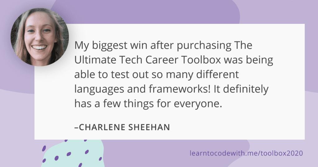 charlene sheehan's testimonial