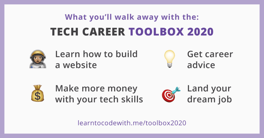 Tech career toolbox outcomes