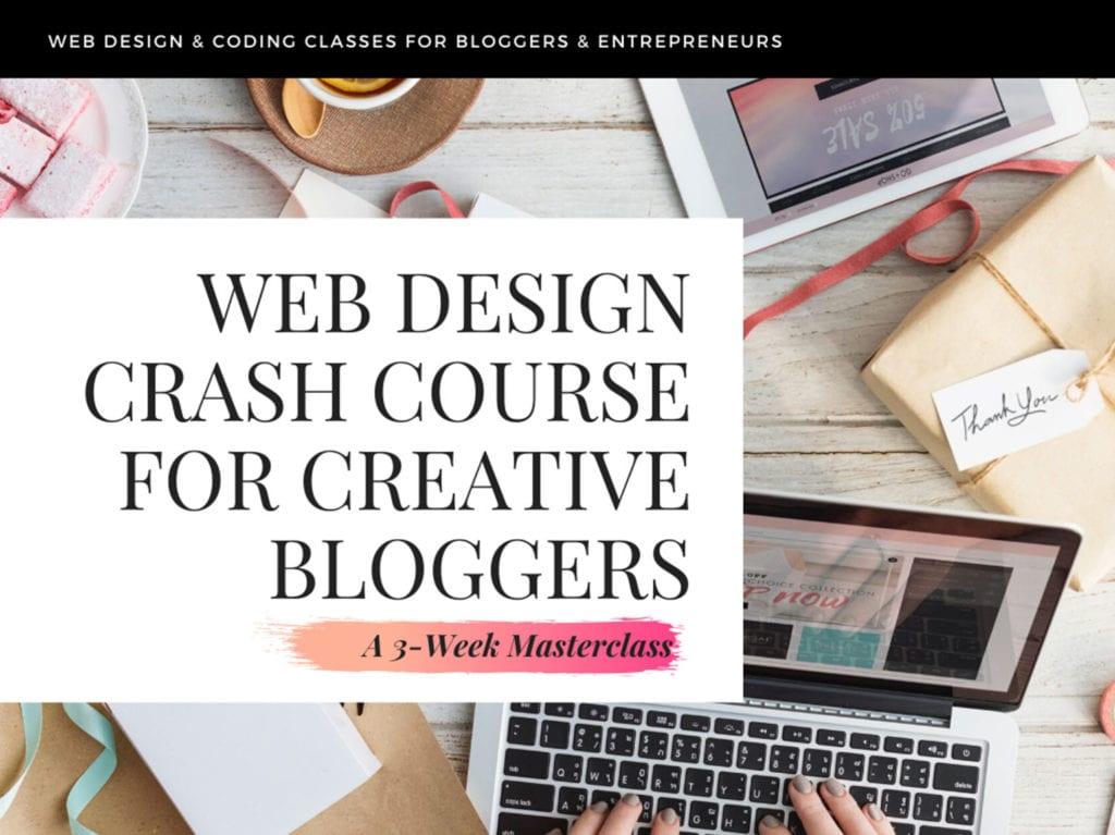web design crash course for creative bloggers