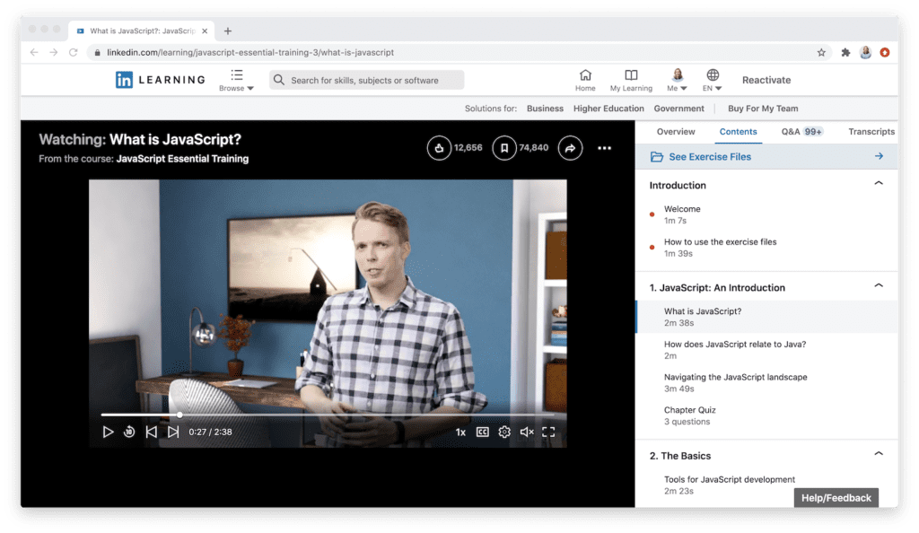 LinkedIn Learning Content Quality