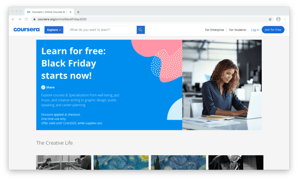 Coursera Black Friday Deal
