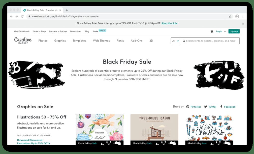 Creative Market Black Friday Sale