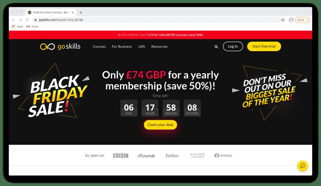 GoSkills Black Friday Discount