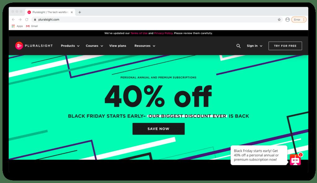 Pluralsight Black Friday Offer