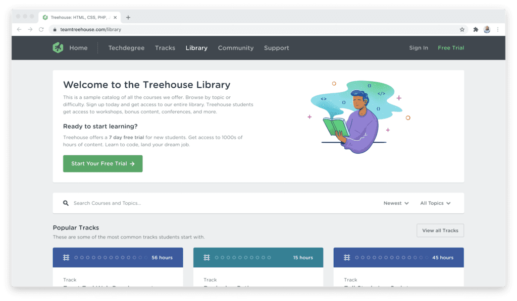 Team Treehouse course library
