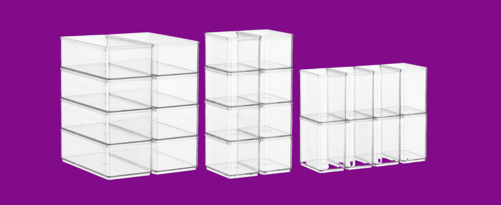 acrylic organizer bins