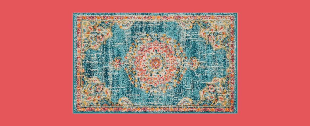ernst oriental turquoise area rug