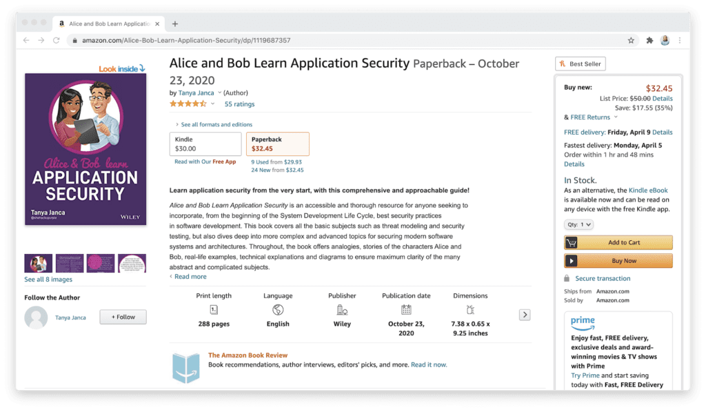 amazon alice and bob learn application security book