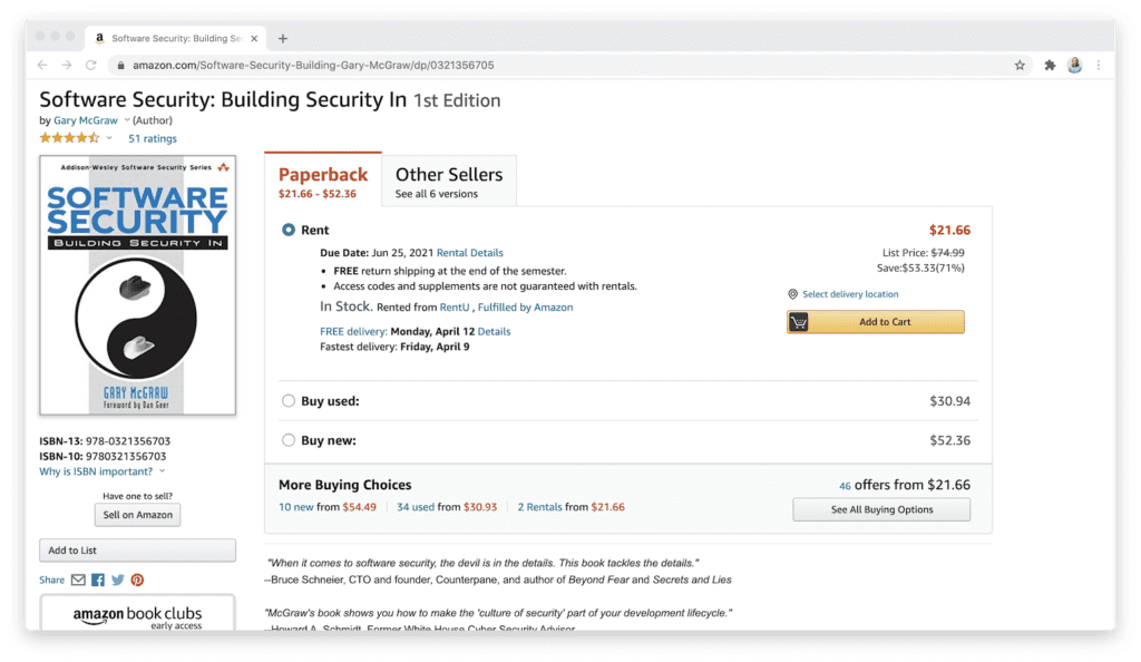 amazon software security book