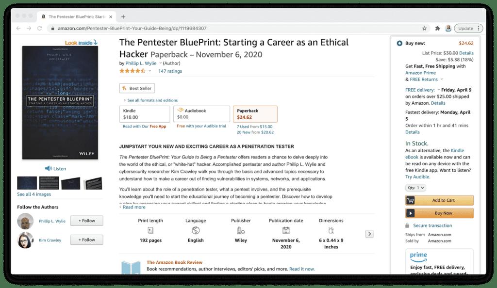 amazon pentester blueprint ethical hacker book