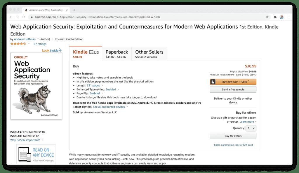 amazon web application security book