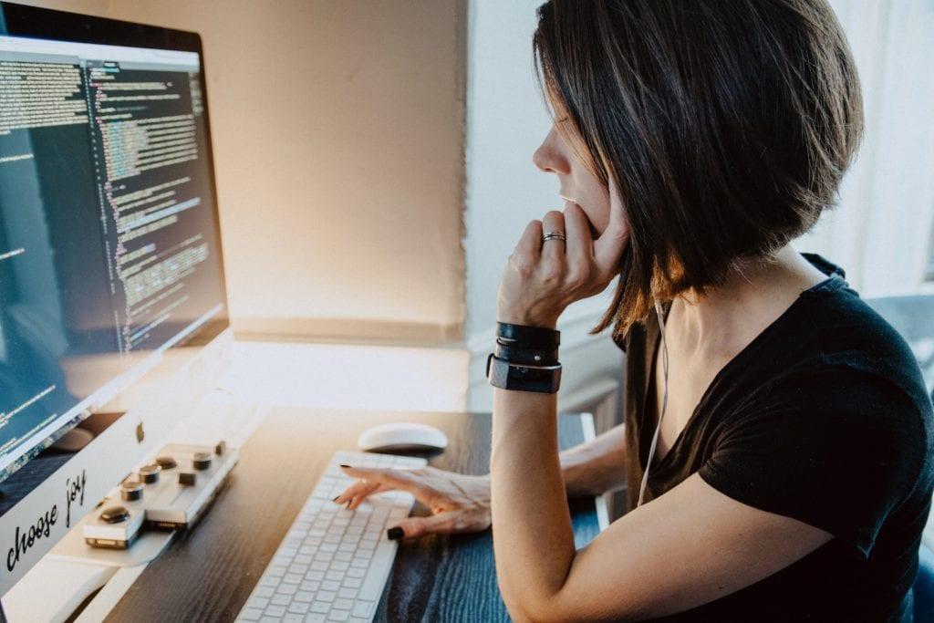 javascript coding on desktop
