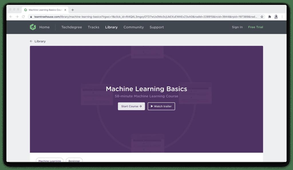 Team Treehouse machine learning basics course