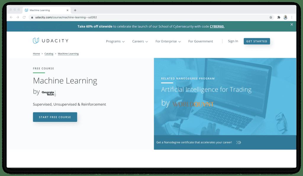 Udacity machine learning course georgia tech