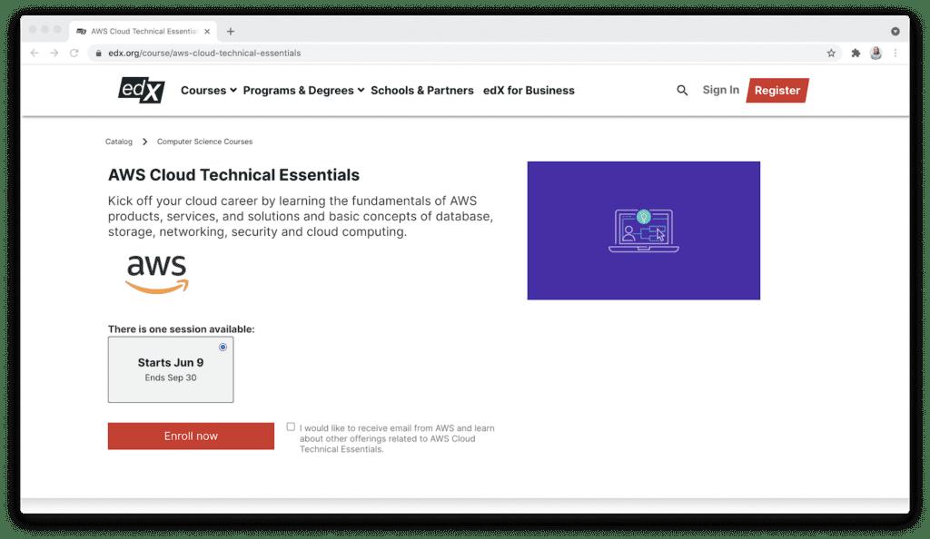 edX AWS cloud technical essentials