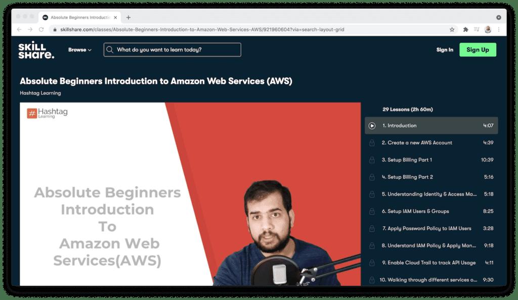 Skillshare amazon web services introduction