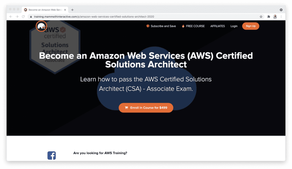 Mammoth Interactive Amazon web services certified solutions architect