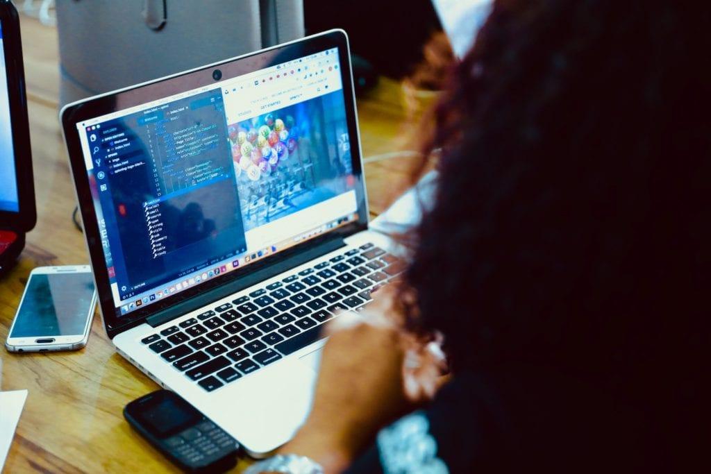 CSS on laptop